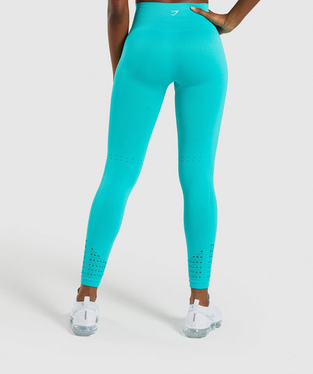 Gymshark Energy+ Seamless Leggings - Tropical Blue
