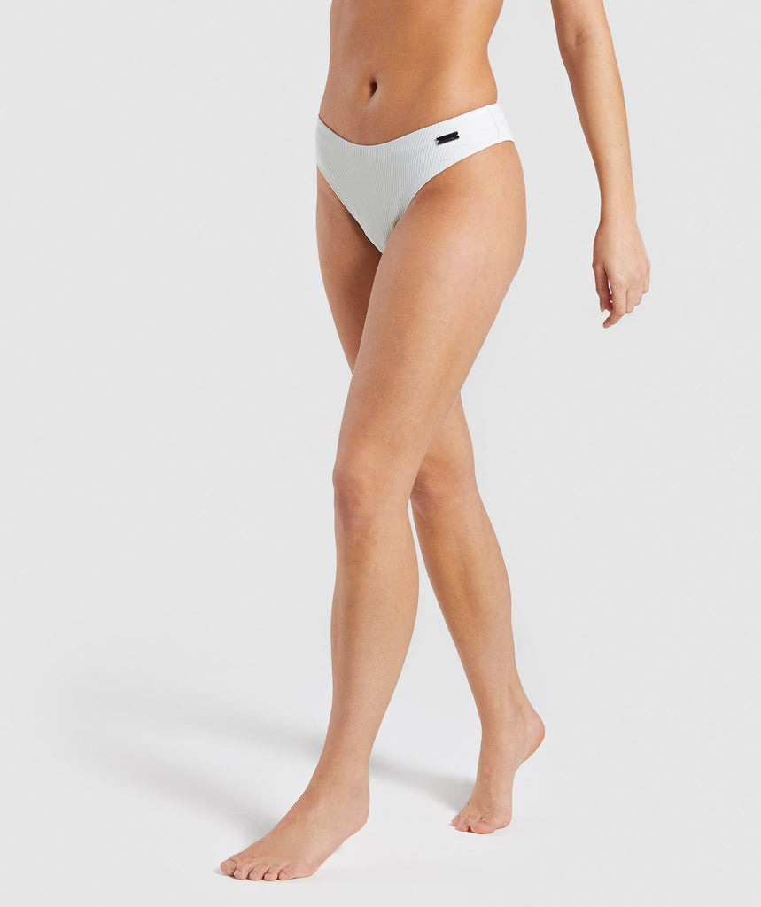 Gymshark Essence Bikini Low Rise Bottoms - Light Grey 1