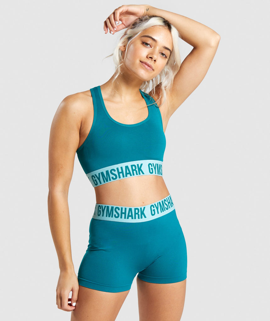 Gymshark Fit Sports Bra - Emerald/Aqua Green 1