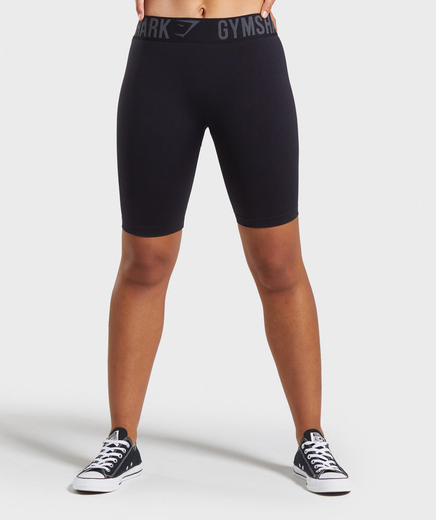 Gymshark Fit Cycling Shorts - Black/Black 1