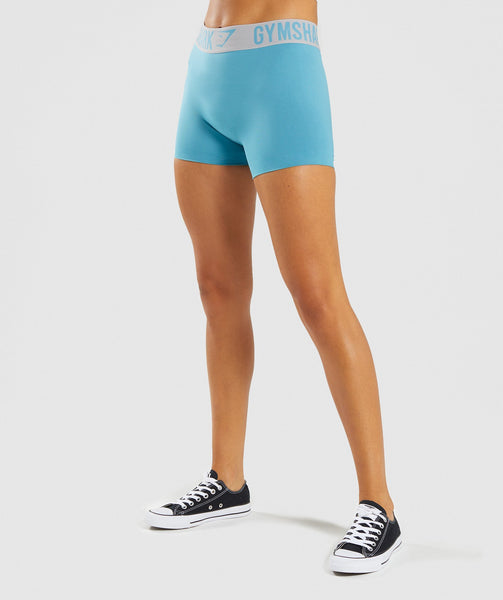 Gymshark Fit Shorts - Dusky Teal/Light Grey 4