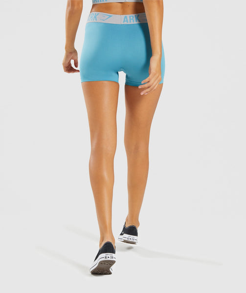 Gymshark Fit Shorts - Dusky Teal/Light Grey 1
