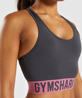 Gymshark Fit Sports Bra - Charcoal/Dusky Pink 9