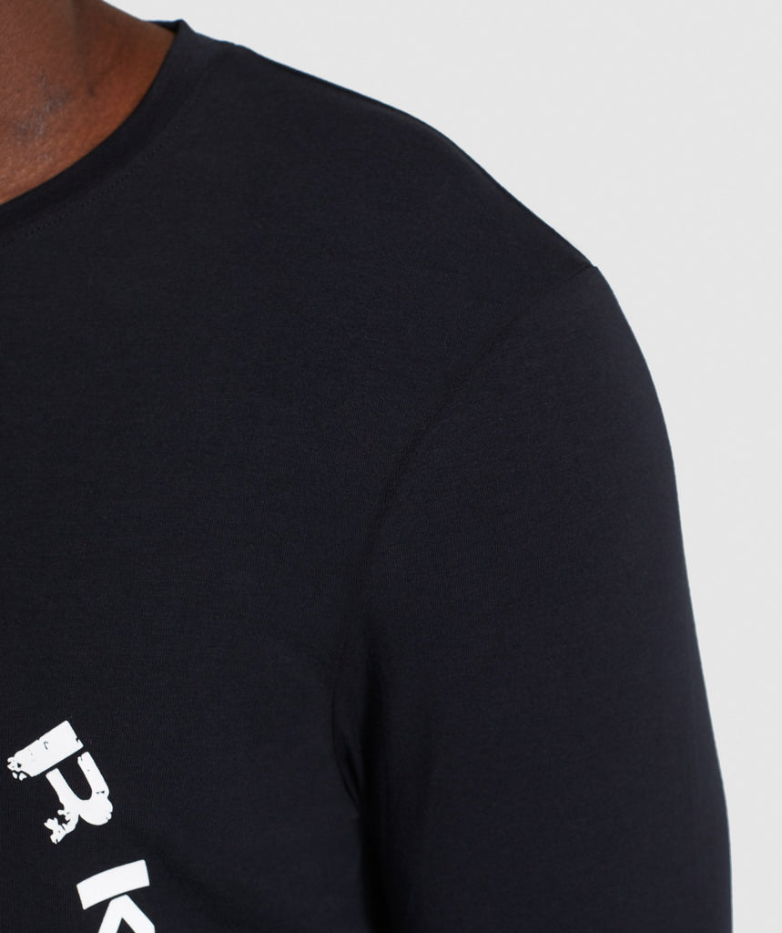Gymshark Legacy Long Sleeve T-Shirt - Black 6