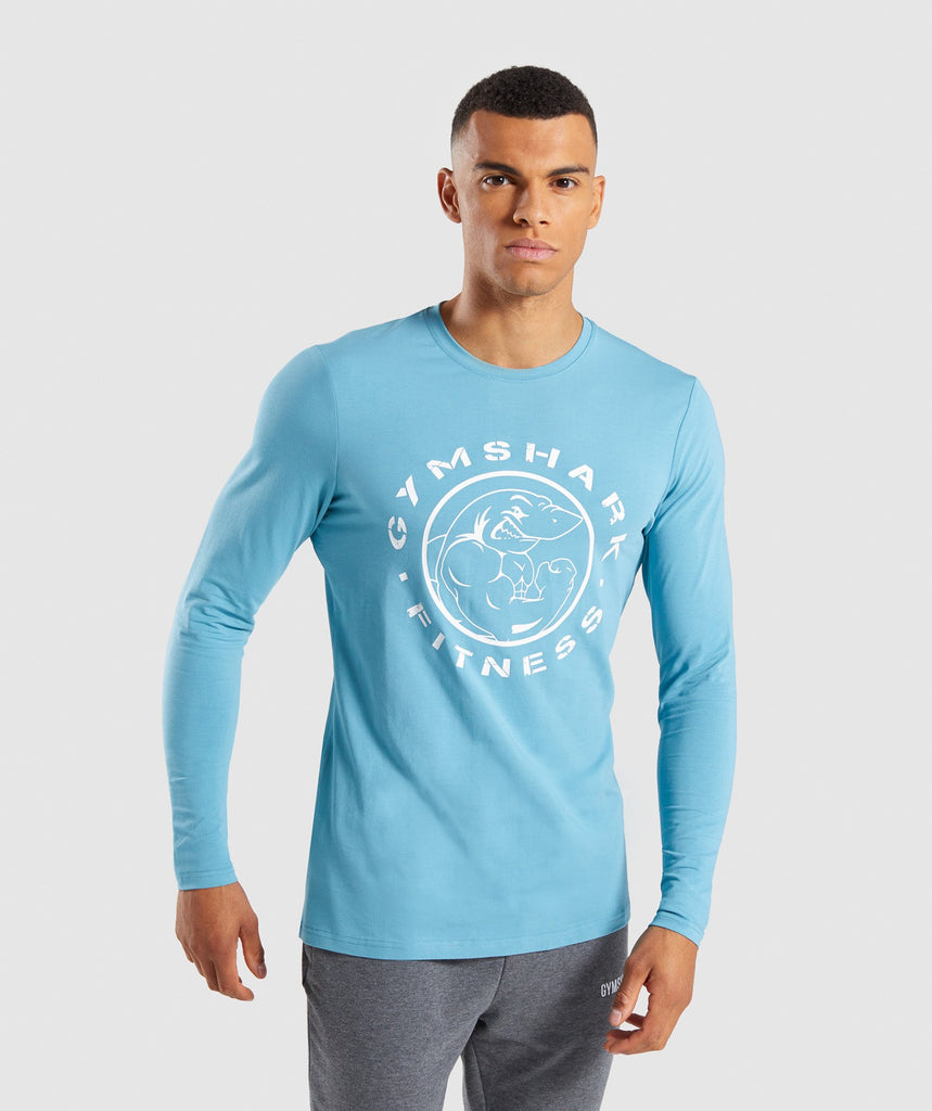 Gymshark Legacy Long Sleeve T-Shirt - Dusky Teal 1