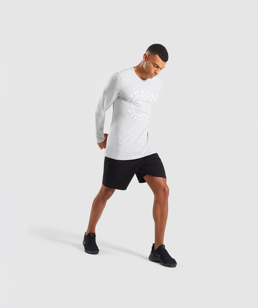 Gymshark Legacy Long Sleeve T-Shirt - Wolf Grey Marl 3