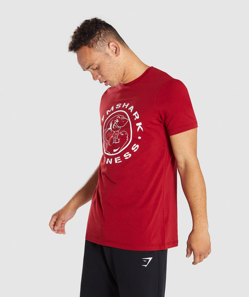 Gymshark Legacy T-Shirt - Full Red 4