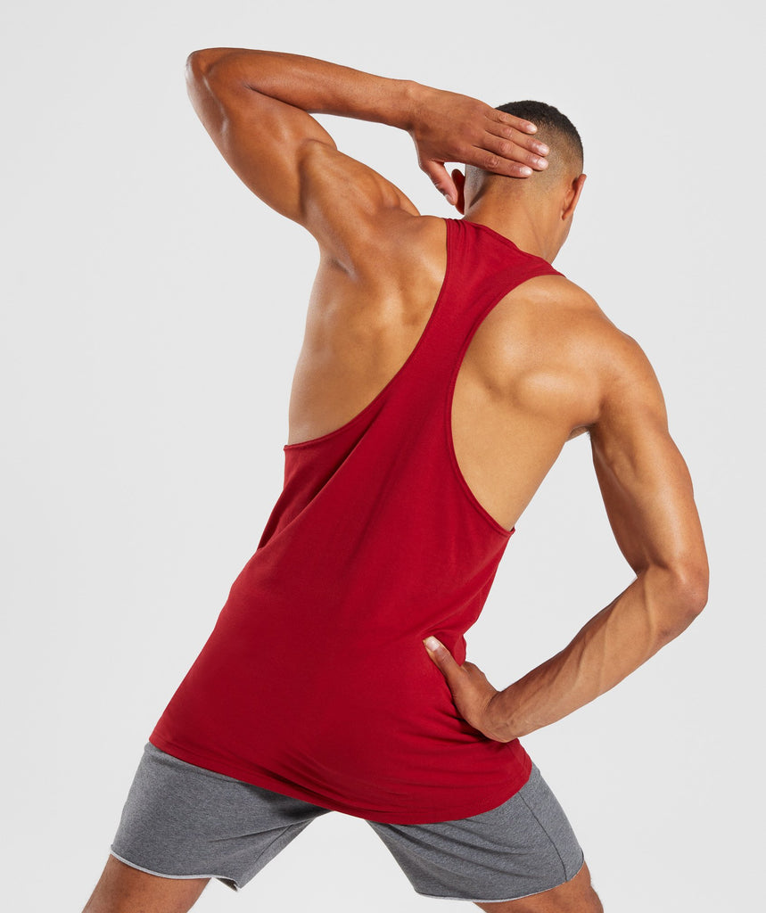 Gymshark Legacy Stringer - Full Red 2