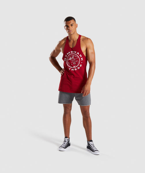Gymshark Legacy Stringer - Full Red 3