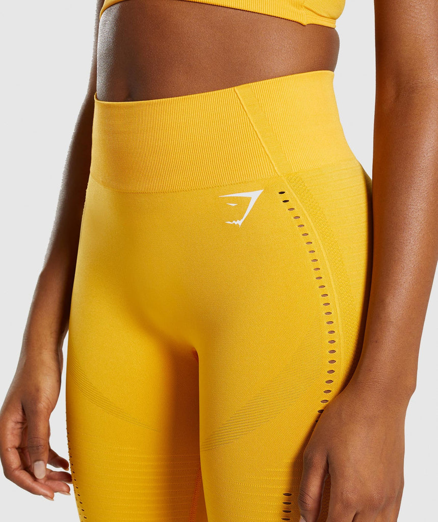 Gymshark Flawless Knit Tights - Yellow 5