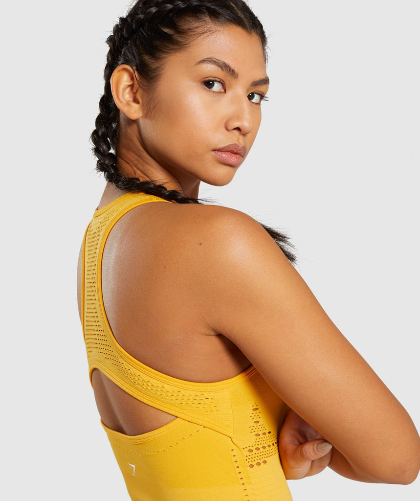 Gymshark Flawless Knit Vest - Yellow 5