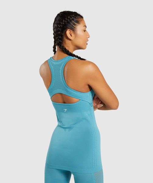 Gymshark Flawless Knit Vest - Teal 1