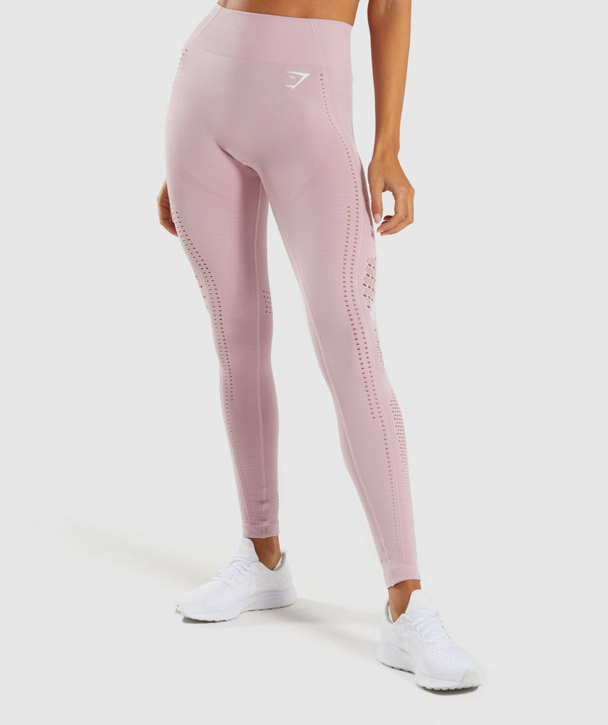 Gymshark Flawless Knit Tights - Washed Lavender 1