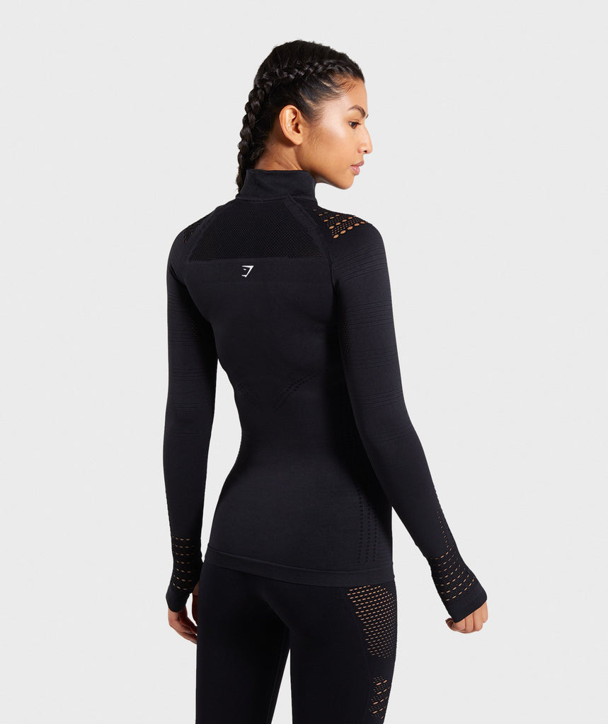 Gymshark Flawless Zip Up Jacket - Black 2