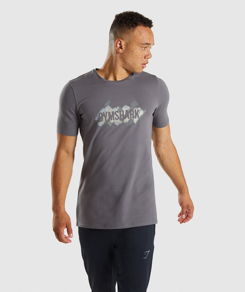 Gymshark Etch T-Shirt - Smokey Grey 4
