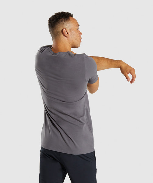 Gymshark Etch T-Shirt - Smokey Grey 1