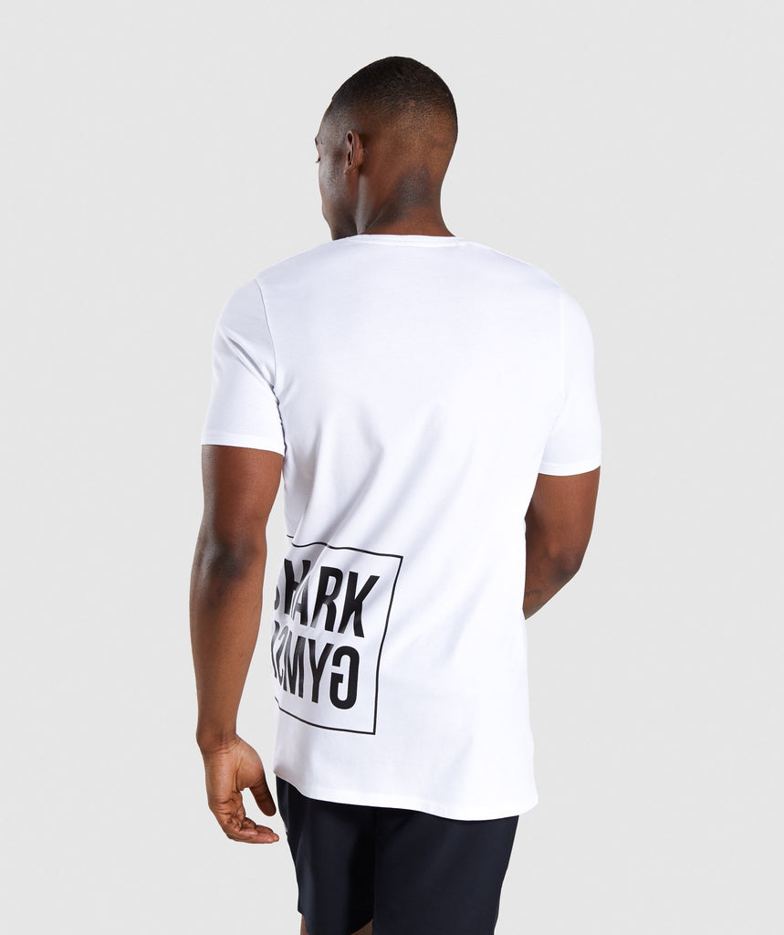 Gymshark Mirror T-Shirt - White 2