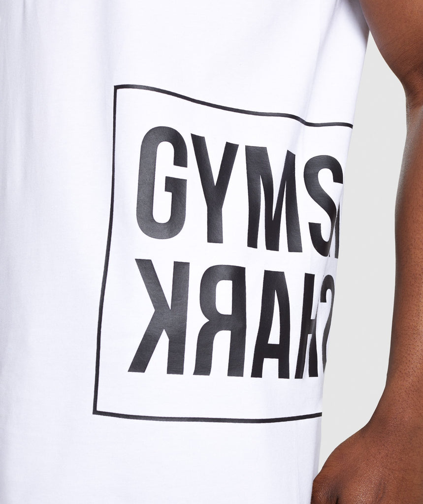 Gymshark Mirror T-Shirt - White 5