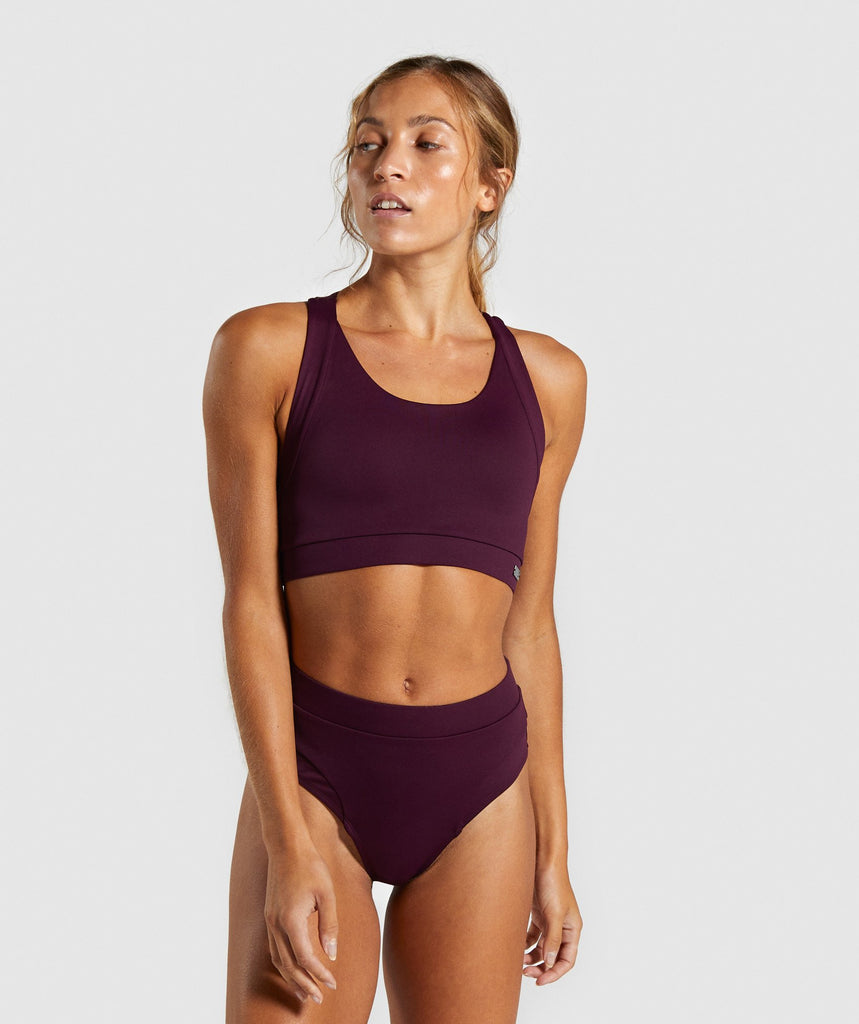 Gymshark Horizon Sport Bikini Top - Berry Red 1