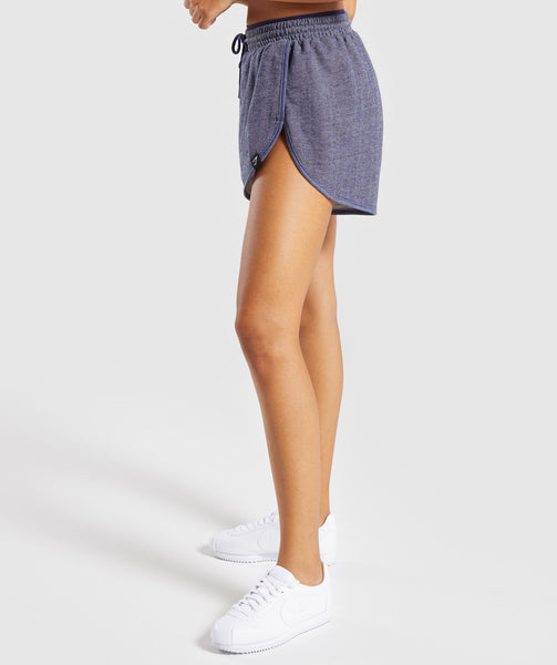 Gymshark Heather Dual Band Shorts - Evening Navy Blue Marl 2