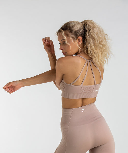 Gymshark Energy Seamless Sports Bra - Taupe 1