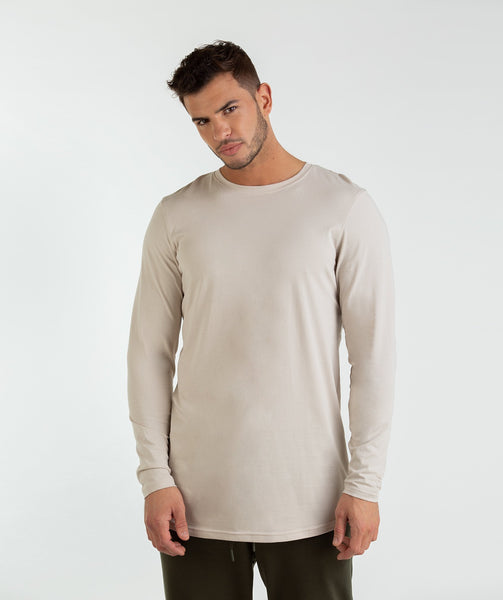 Gymshark Living Long Sleeve T-Shirt - Washed Beige 4