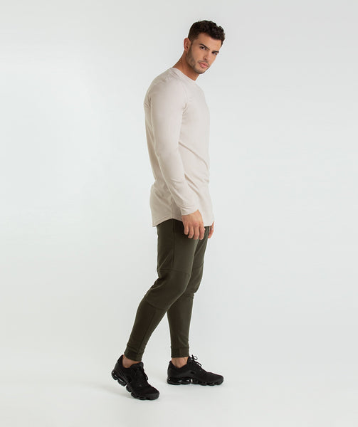 Gymshark Living Long Sleeve T-Shirt - Washed Beige 3