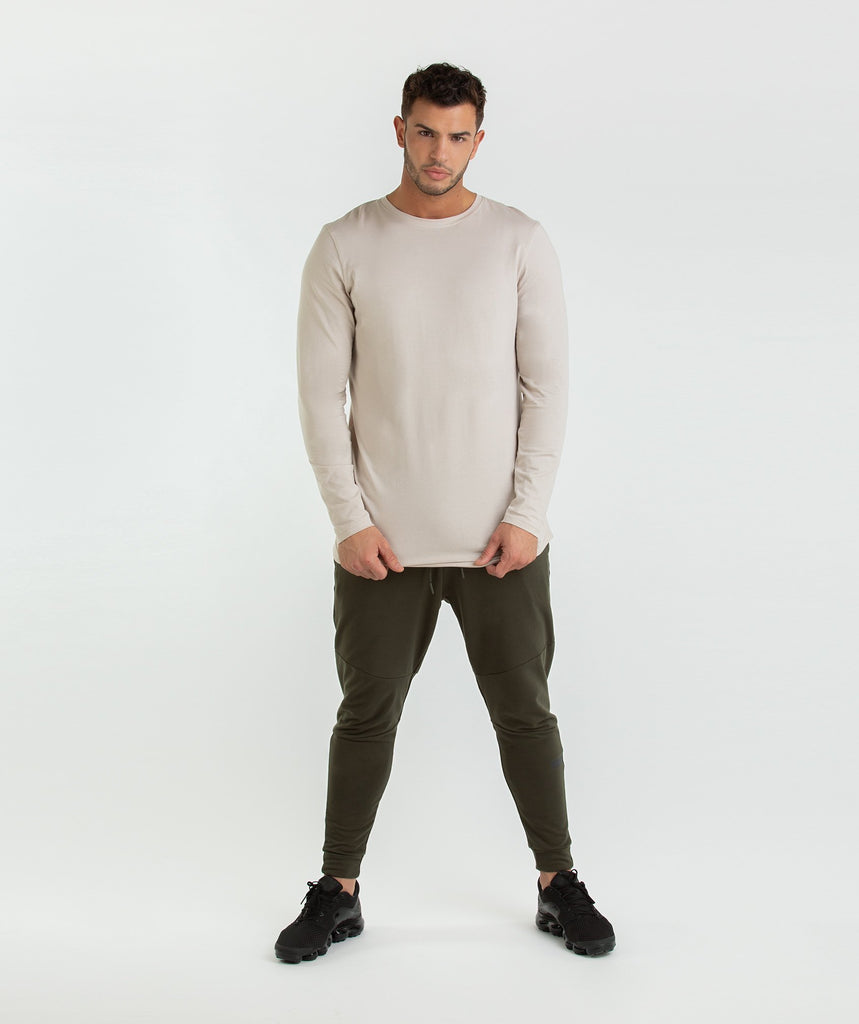 Gymshark Living Long Sleeve T-Shirt - Washed Beige 5