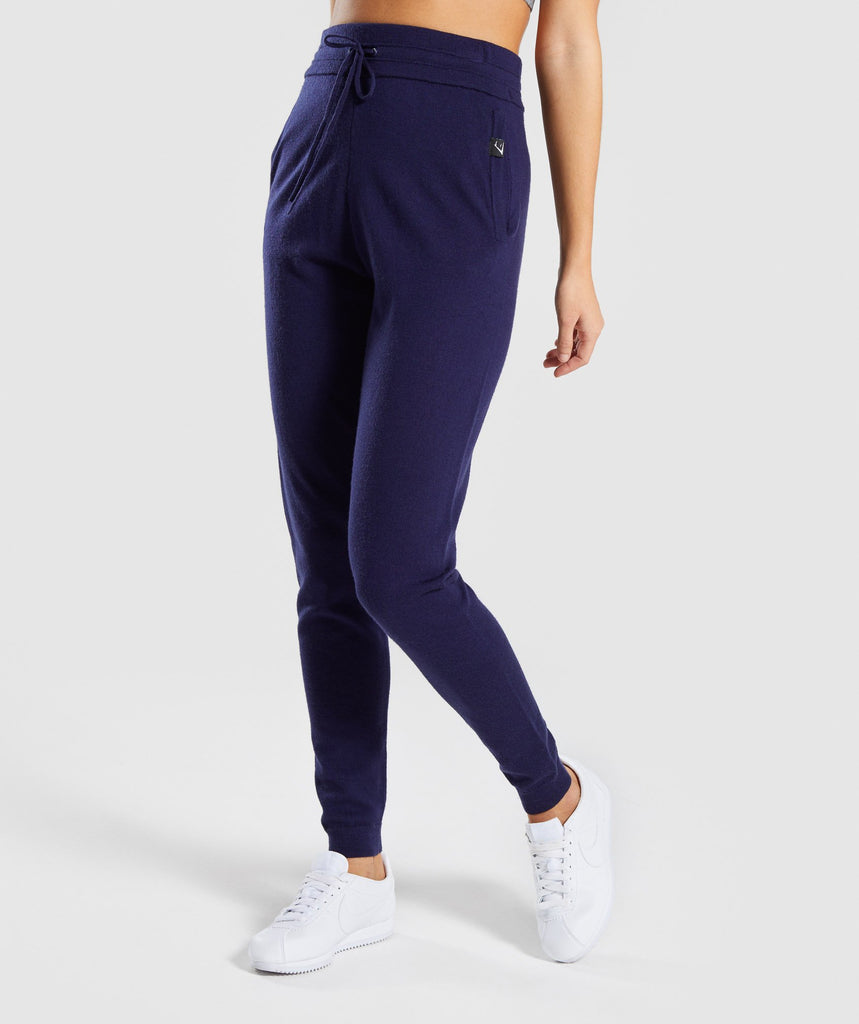 Gymshark Isla Knit Jogger - Evening Navy Blue 1