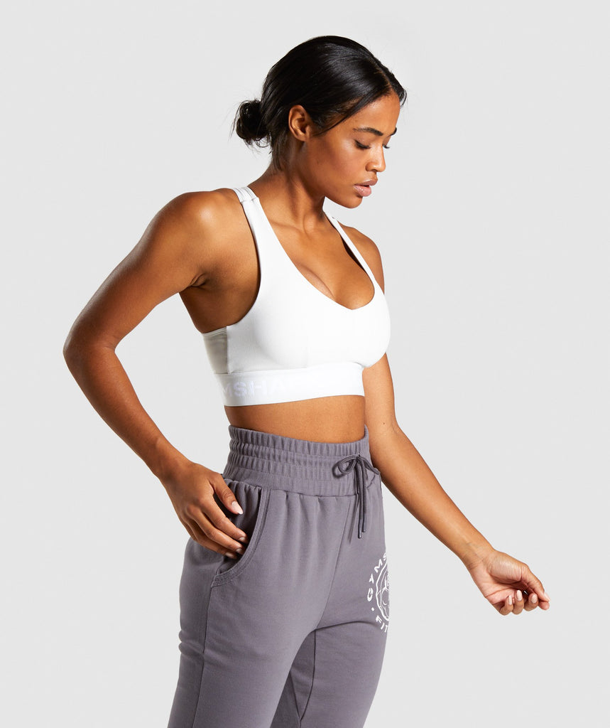 Gymshark Legacy Fitness Sports Bra - Light Grey 1
