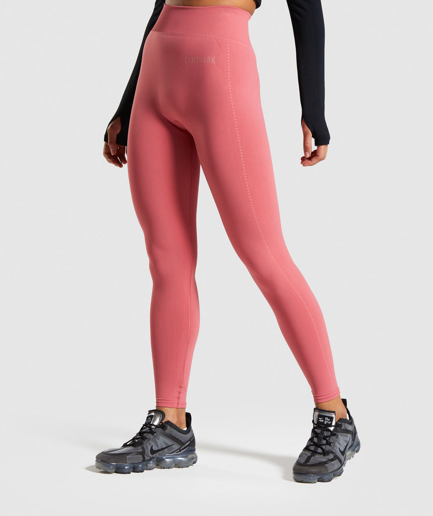 Gymshark Breeze Lightweight Seamless Tights - Rose Slate 1