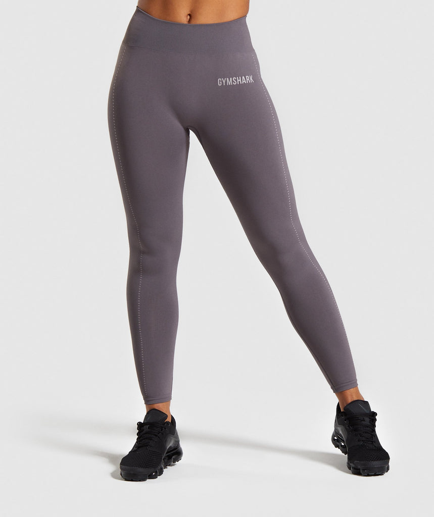 Gymshark Breeze Lightweight Seamless Tights - Slate Lavender 1