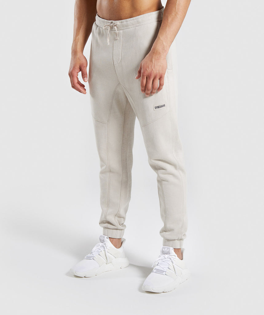 Gymshark Laundered Joggers - Chalk Grey 1