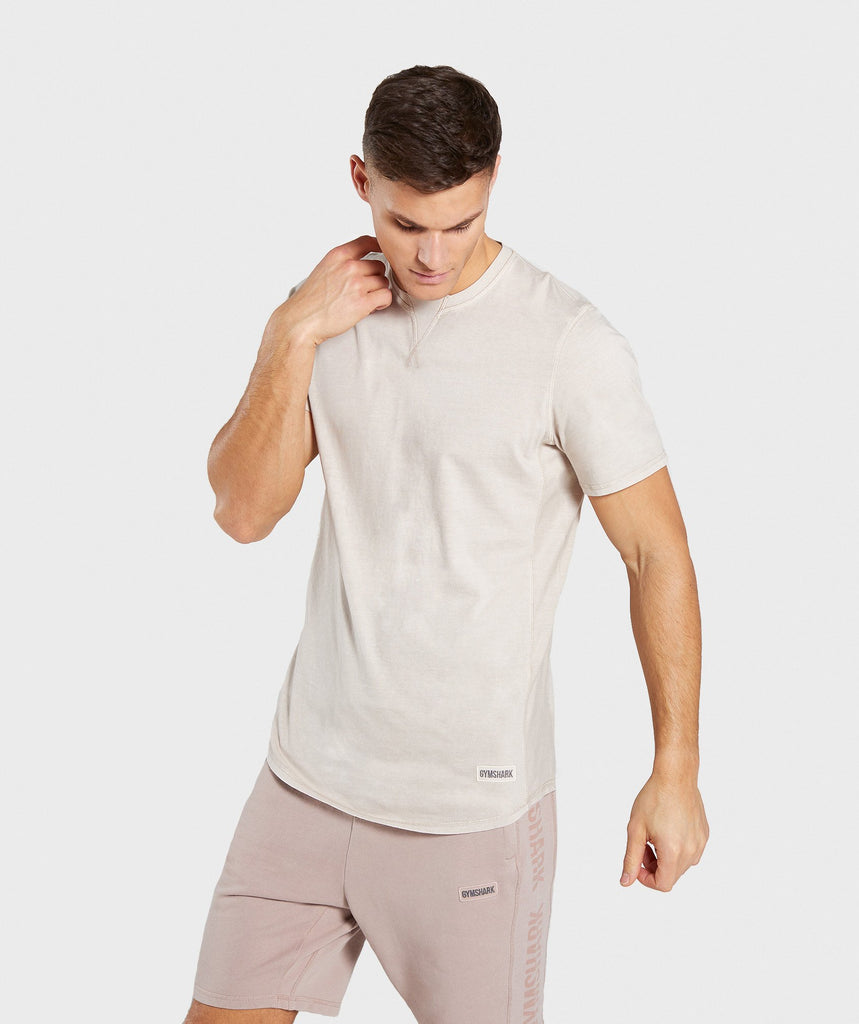 Gymshark Laundered T-Shirt - Chalk Grey 1
