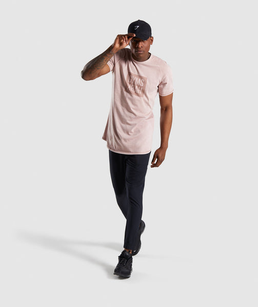 Gymshark Laundered Square Logo T-Shirt - Pink 3