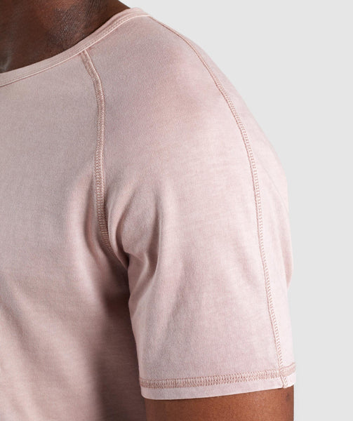 Gymshark Laundered Square Logo T-Shirt - Pink 4