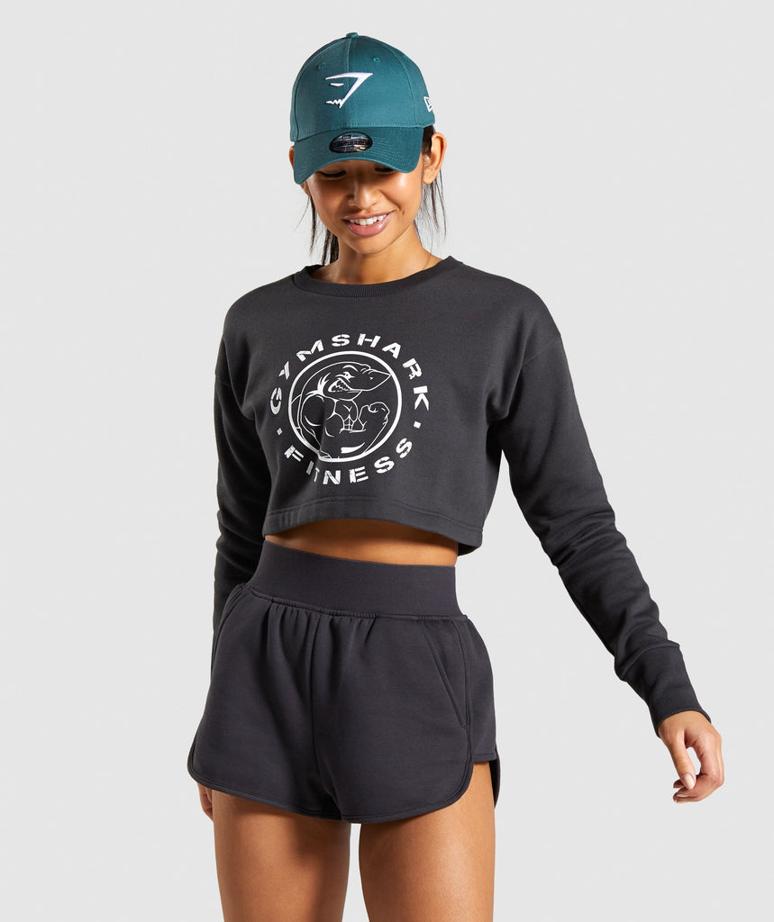 Gymshark Legacy Fitness Sweater - Washed Black 1