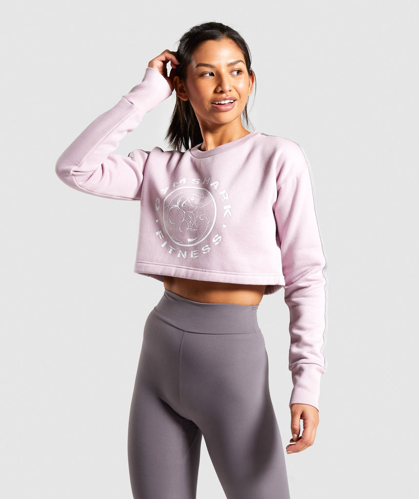 Gymshark Legacy Fitness Sweater - Washed Lavender 1