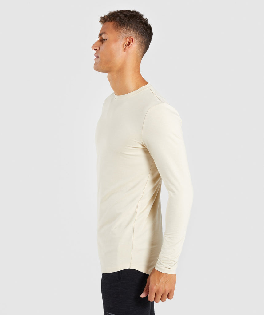 Gymshark Living Long Sleeve T-Shirt - Warm Beige 2