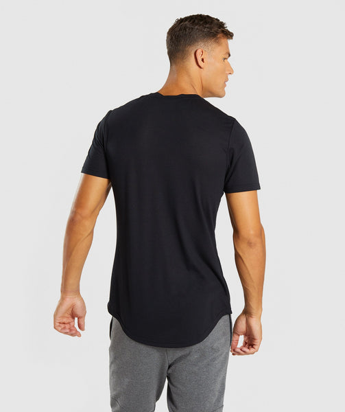 Gymshark Perforated Longline T-Shirt - Black 2