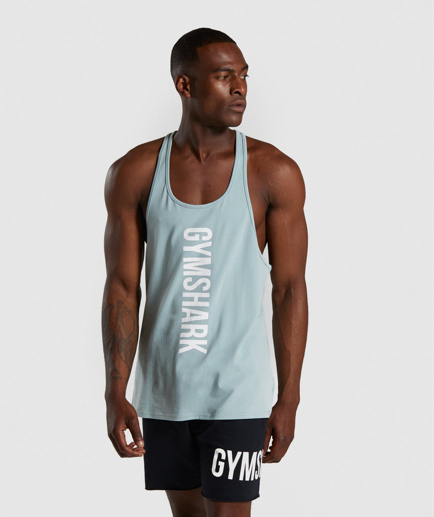 Gymshark Maximize Stringer - Light Blue 1
