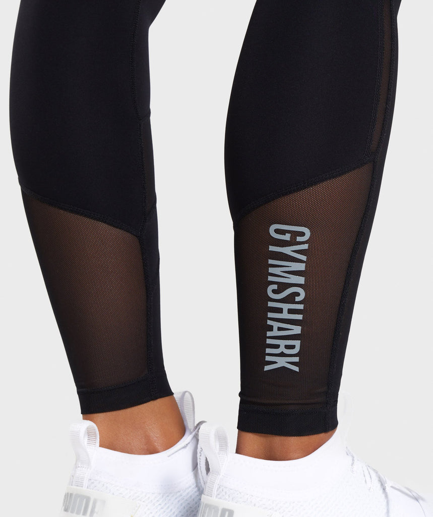 Gymshark Mesh Layer Leggings - Black 5