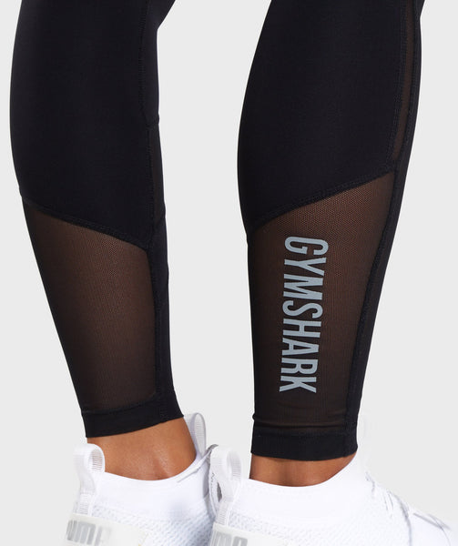 Gymshark Mesh Layer Leggings - Black 4
