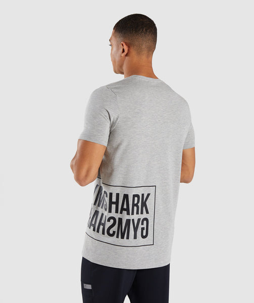Gymshark Mirror T-Shirt - Light Grey Marl 4