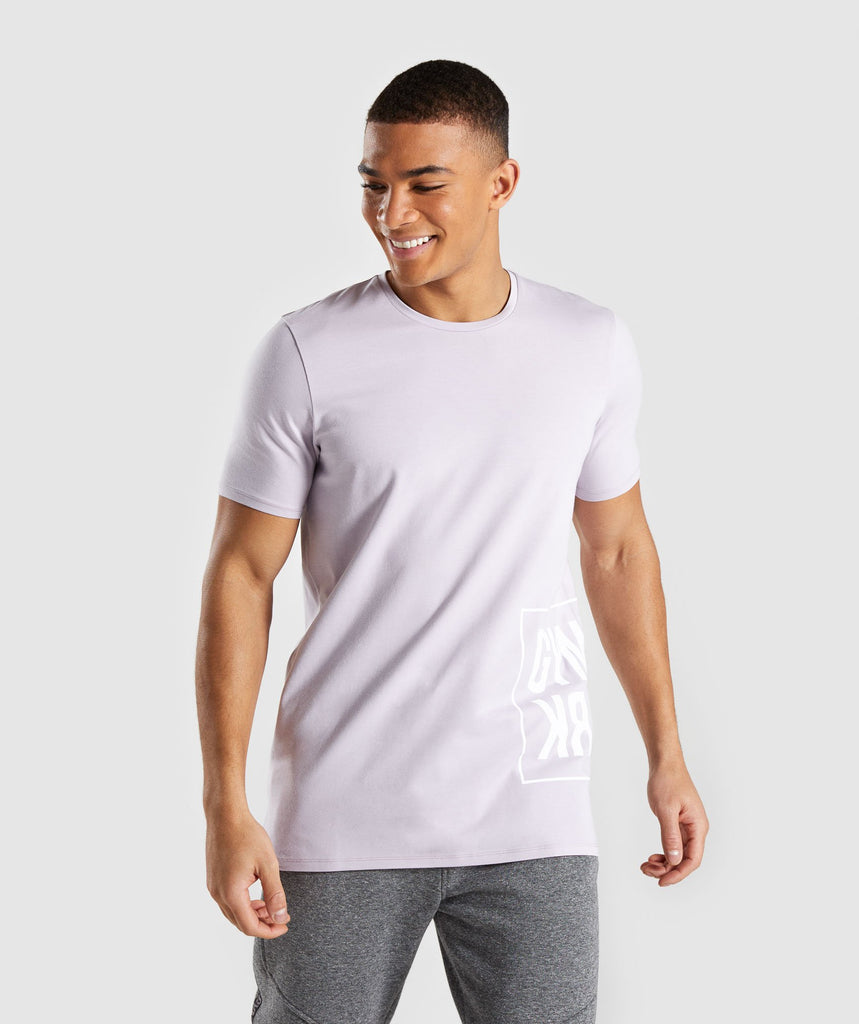 Gymshark Mirror T-Shirt - Purple Chalk 1