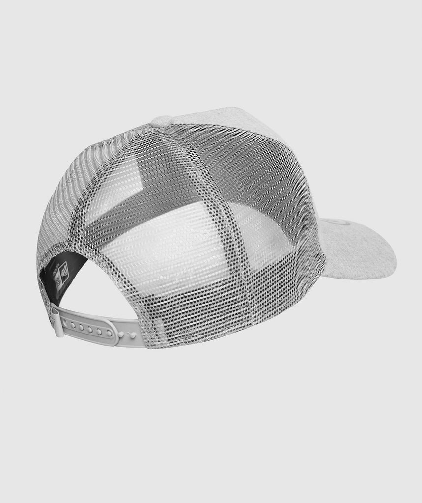 Gymshark New Era Mesh Trucker - Grey Marl/White 2