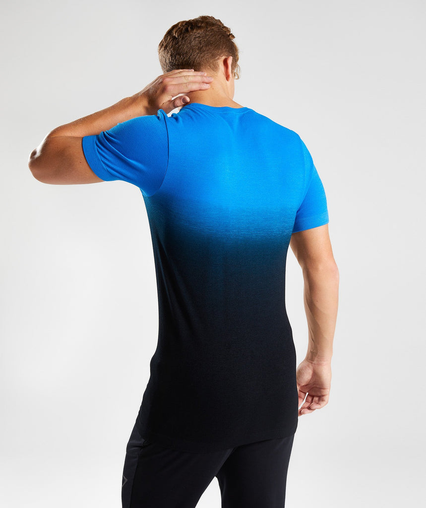 Gymshark Ombre T-Shirt - Dive Blue/Black 2