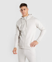 Gymshark Orbit Zip Hoodie - Light Grey 7
