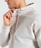 Gymshark Orbit Zip Hoodie - Light Grey 11