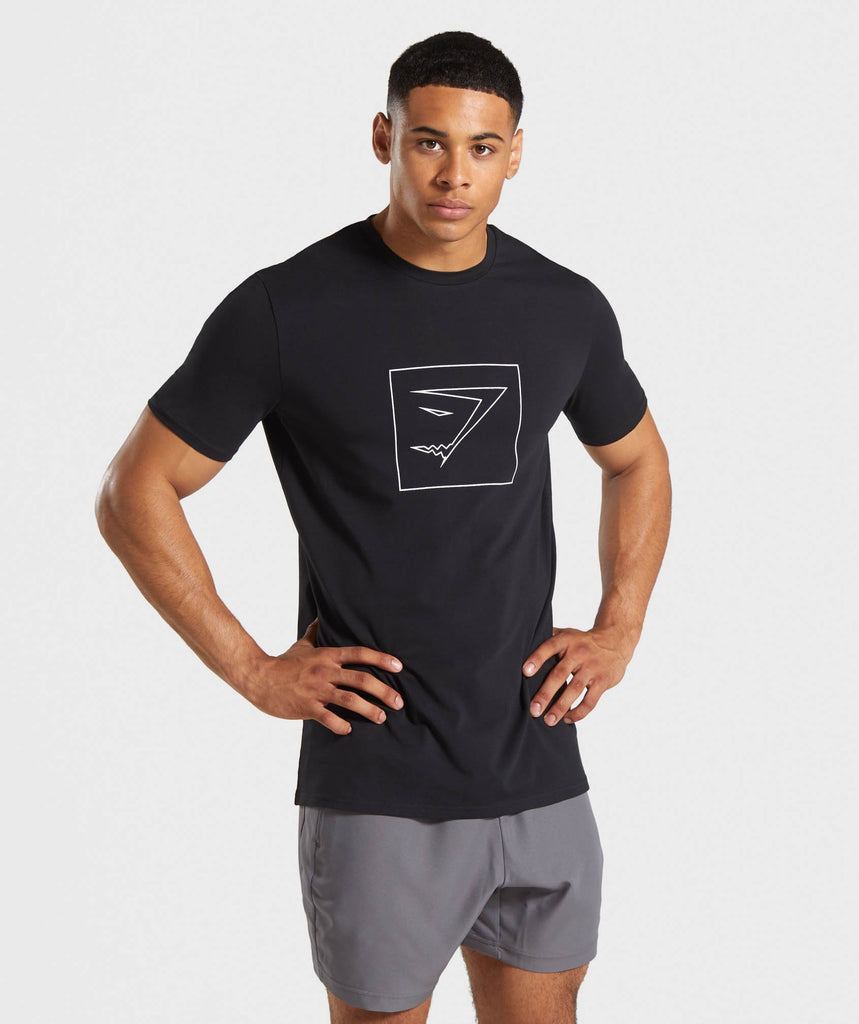 Gymshark Outline T-Shirt - Black 1